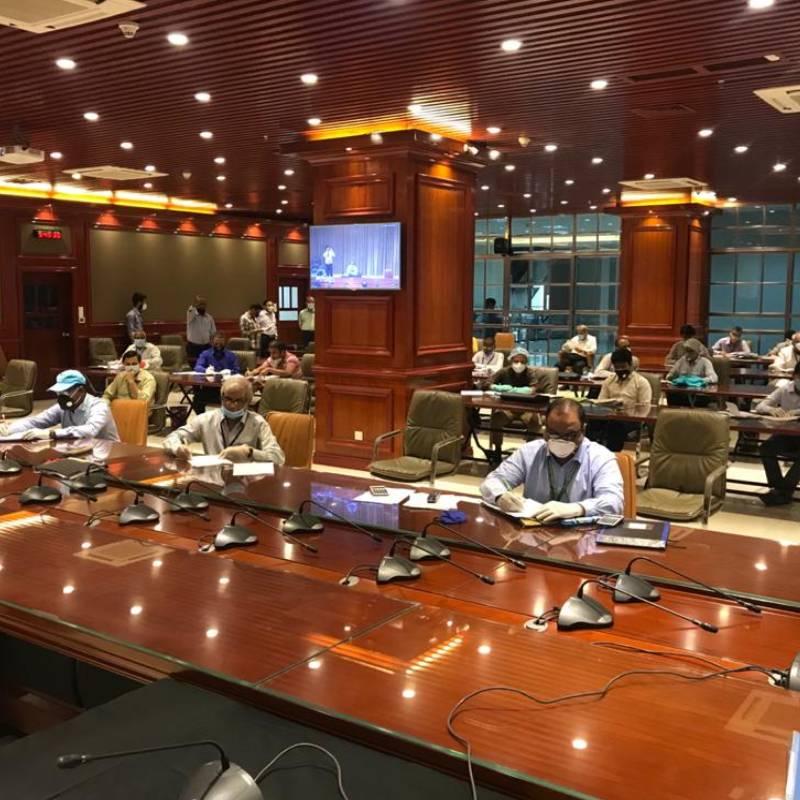 Tea Auction at Bangabandhu Conference Hall, World Trade Center, Chattogram.